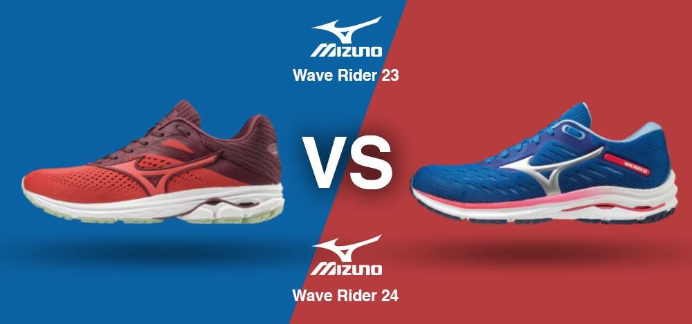 Mizuno Wave Rider 23 vs Mizuno Wave Rider 24