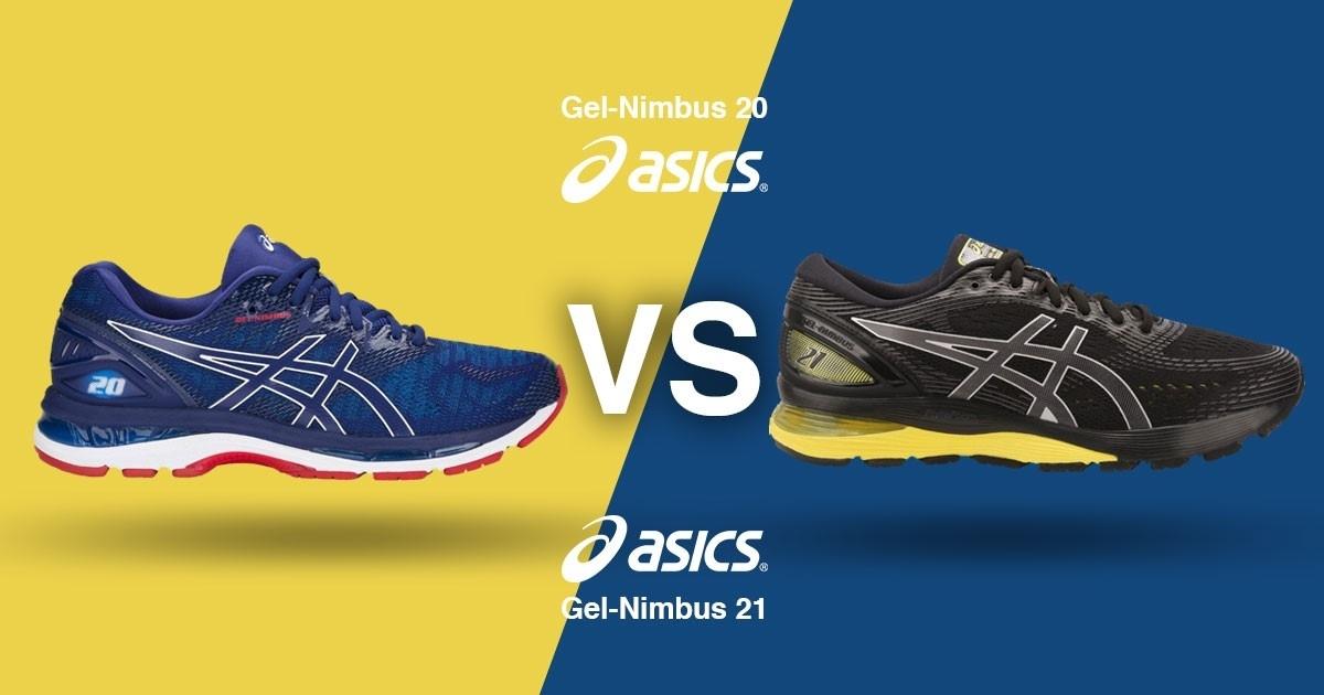 Asics Gel-Nimbus 21 vs. Asics Gel-Nimbus 20